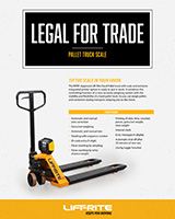 Lift-Rite legal for trade pallet truck with scale
