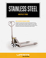 Lift-Rite stainless steel pallet jack