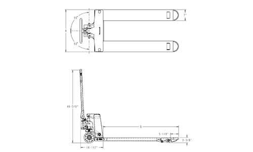 heavy duty pallet truck, heavy-duty pallet jack dimensions