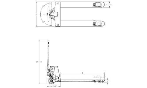 start assist pallet jack, pallet jack dimensions