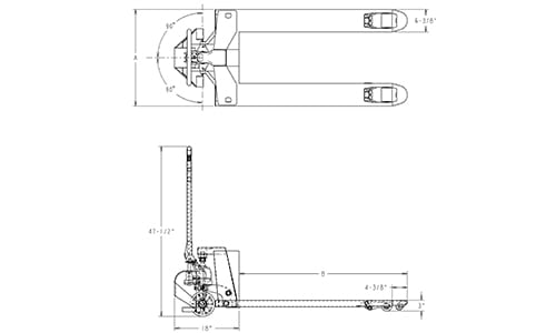 motorized pallet jack, powered pallet jack, pallet jack dimensions