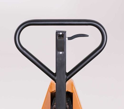 Electric skid lifter with ergonomic handle