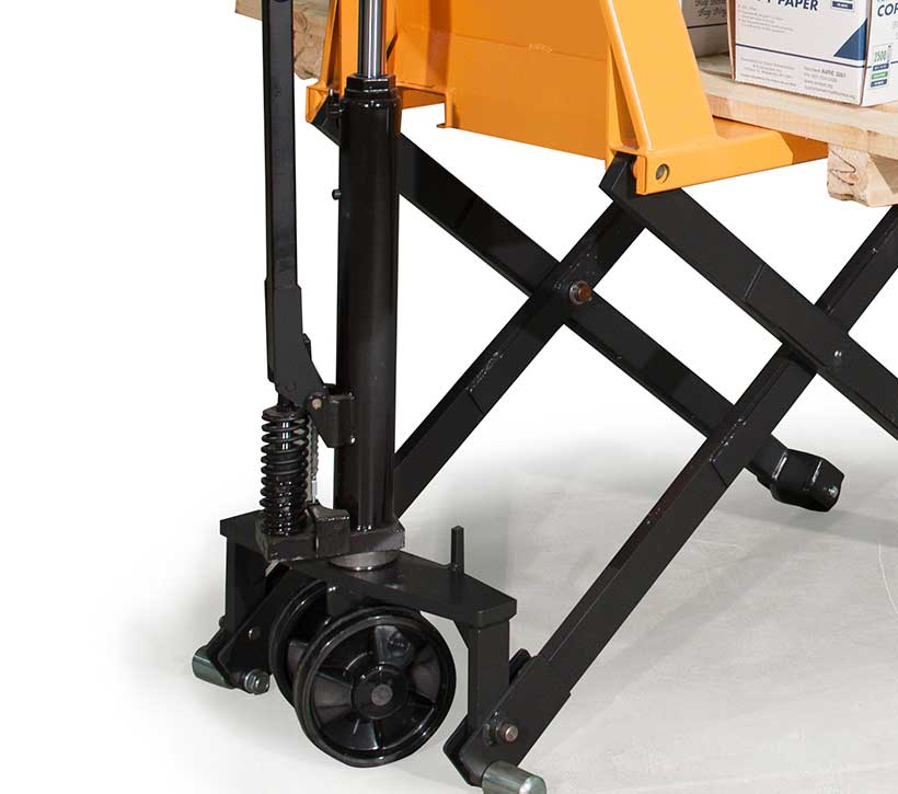 Manual scissor lift table, manual skid lifter