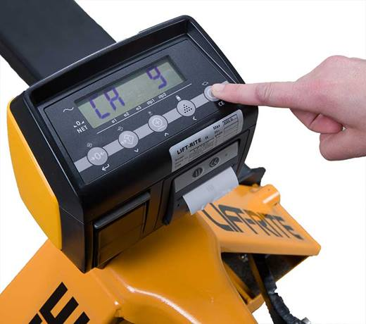 lift-rite pallet jack scale with printer