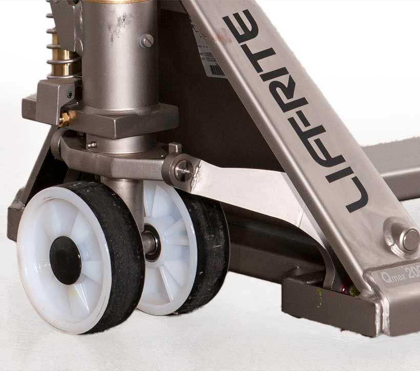 Stainless pallet jack, pallet truck grease fittings