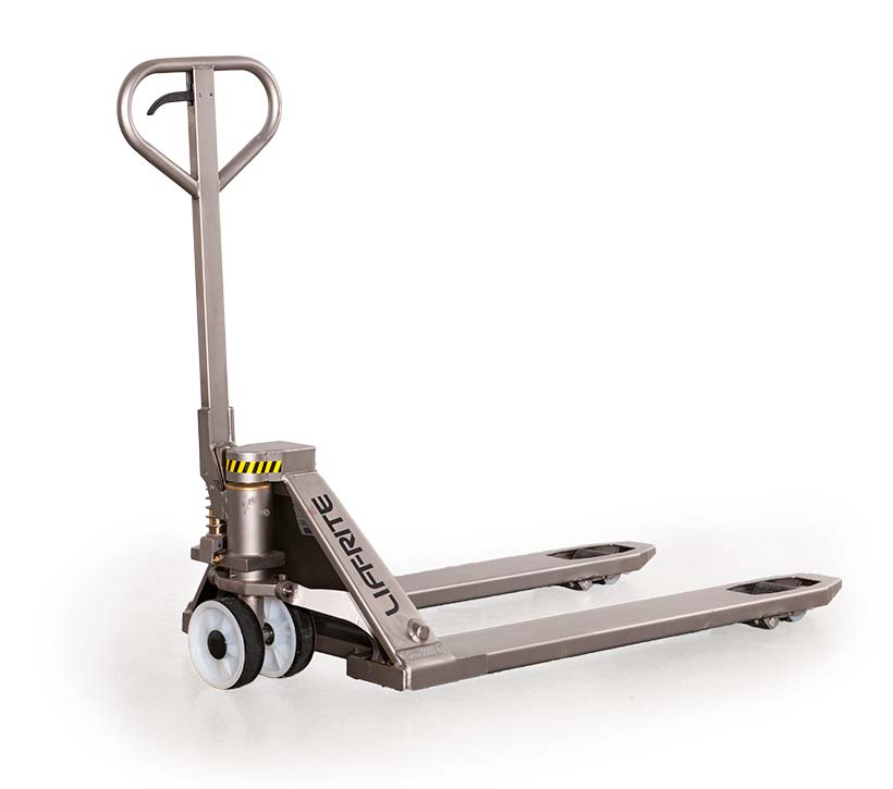 Stainless Steel Hand Jack : Stainless steel pallet truck corrosion resistant jack