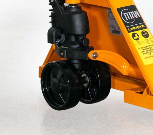 Lift-Rite LCR Series standard hand pallet jack trucks with cast hydraulic pump